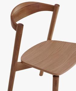 Sander Walnut Chair-closeup