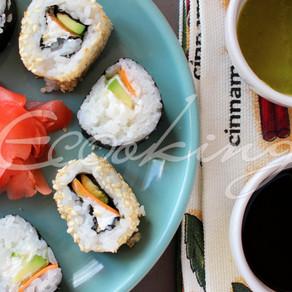 Суши-роллы 2 вида vegan