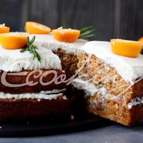 Идеальный морковно-апельсиновый торт! vegan (постный), без сахара, без глютена