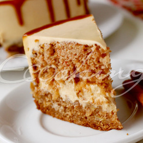 Потрясающий яблочно-карамельный торт (на БГ муке)