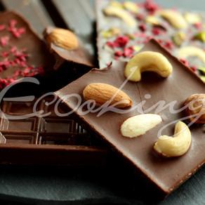 Живой молочный шоколад 2 вида на какао-порошке и кэробе / Vegan (постный)