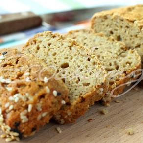 Хлеб из зеленой гречки без глютена, без муки, без дрожжей, на быстрой закваске
