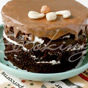 Шоколадный торт на кэробе / vegan, gluten free