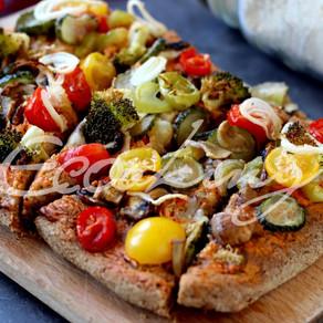 Полезная Пицца на быстром тесте vegan, gluten free