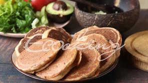 Оладьи-пирожки из красной чечевицы и зеленой гречки vegan, без глютена