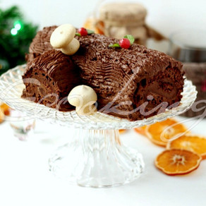 Рождественское полено vegan (постный) gluten free, без сахара
