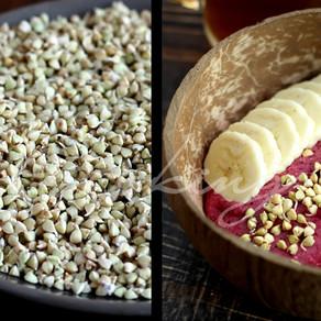 Живые завтраки часть 1 / Как легко прорастить зеленую гречку / Творожок из зеленой гречки / Vegan