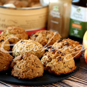 Пряное овсяно-яблочное печенье vegan