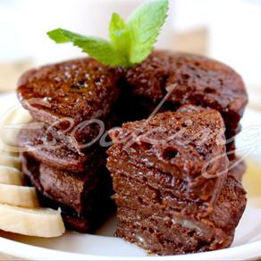 Шоколадно-банановые панкейки vegan, gluten free