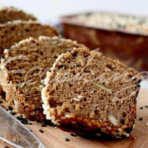 Хлеб на быстрой закваске из зеленой гречки и красного риса gluten free