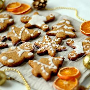 Имбирное печенье без сахара, с глазурью на ксилите vegan (постное), gluten free
