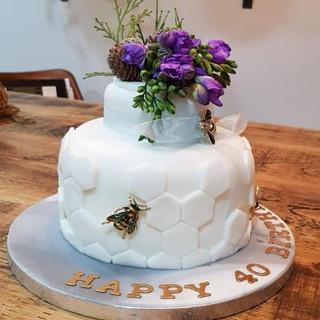 40th Bee Cake