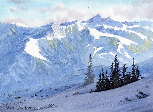 BACK TO ALASKA original watercolor (unframed)