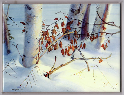 "Vladimir Zhikhartsev #27 OLD LEAVES, ALASKA- 6""x8""ceramic tile/trivet"