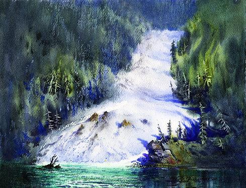 IN PRINCE WILLIAM SOUND original watercolor(unframed)