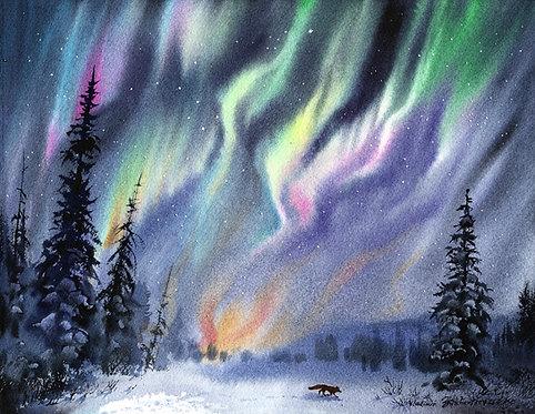 NATURE'S WINTER MAGIC original watercolor(unframed)