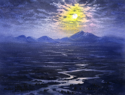 #4 TANANA VALLEY II original watercolor  (unframed)