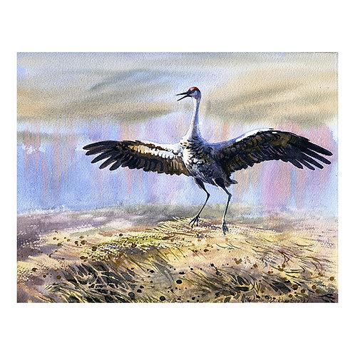 CREAMER'S FIELD GUEST, ALASKA original watercolor(unframed)