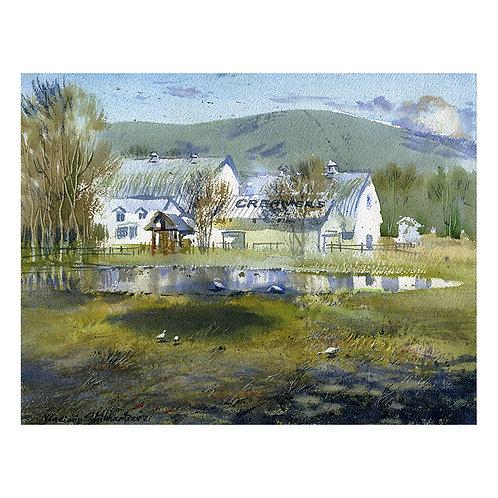 CREAMER'S FIELD, ALASKA original watercolor(unframed)