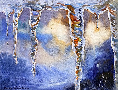 SPRING, ALASKA original watercolor(unframed)