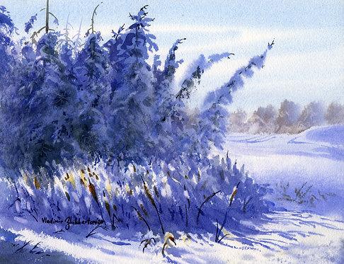 #7  TANANA LAKES AREA, ALASKA original watercolor(unframed)