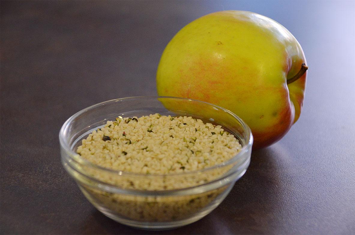 Hanfnüsse Apfel