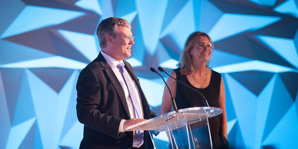 Speakers on stage at ENVI awards