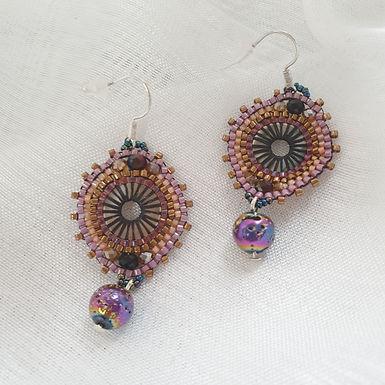 Boho earrings | Real Lava Stone