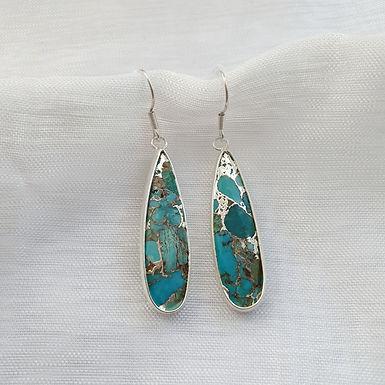 Earrings   Turquoise Gemstones