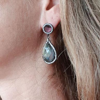 Christmas earrings   Real labrodite Gemstones