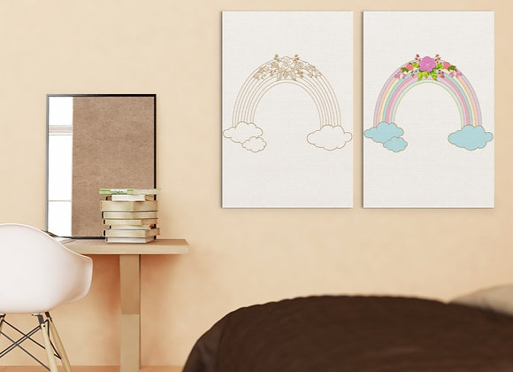 Boho Rainbow | Digital File Gold | DIY Print