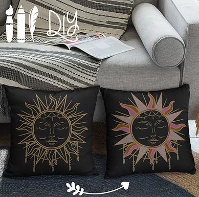 Boho Pillow Case Sun | Gold | DIY