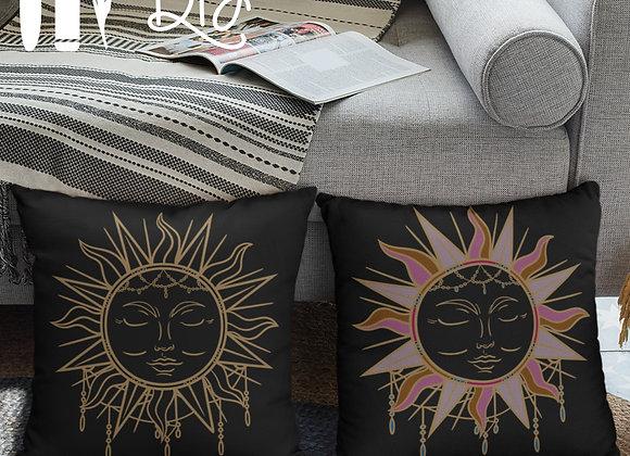Funda de almohada Boho Sun | Oro | Bricolaje