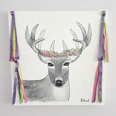 Bohemian Deer Painting