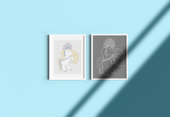 Boho Pony | Digital File Silver | DIY Print