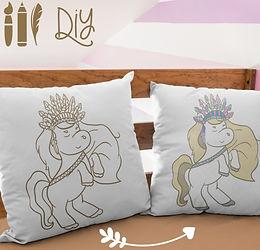 Boho Pillow Case | Gold | Pony