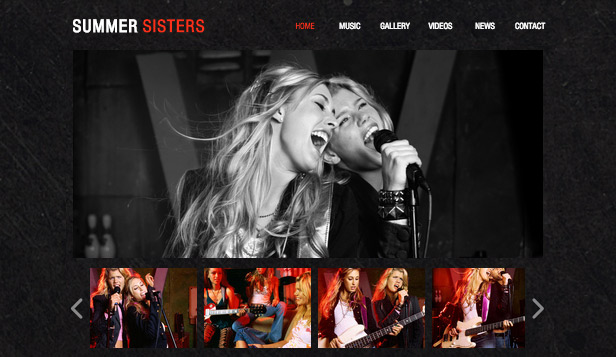 Band website templates – Musicista
