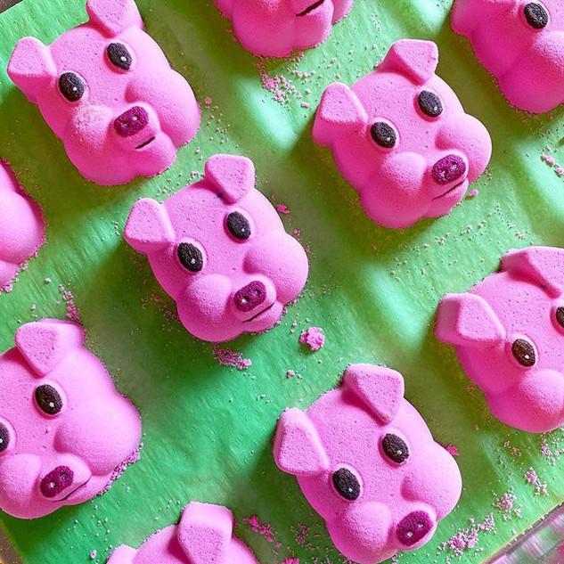 These little piggies... are going to the
