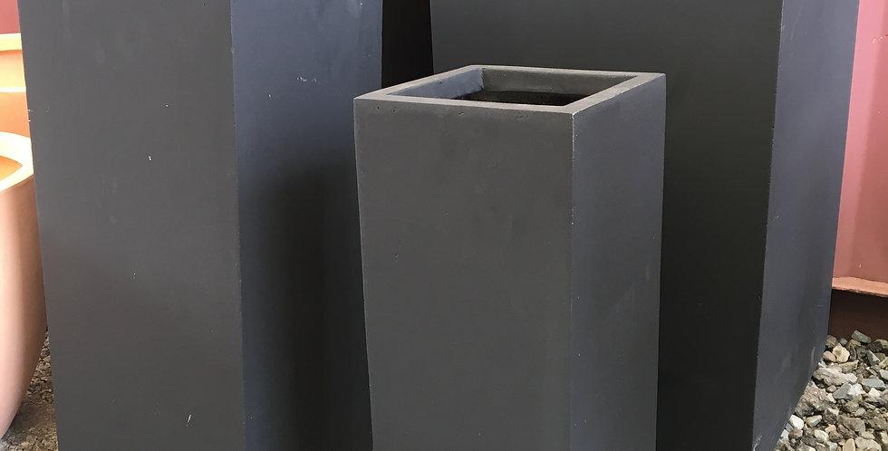 Sunnydene Pots Tall Square Modern Garden Fiberglass Planter  Set