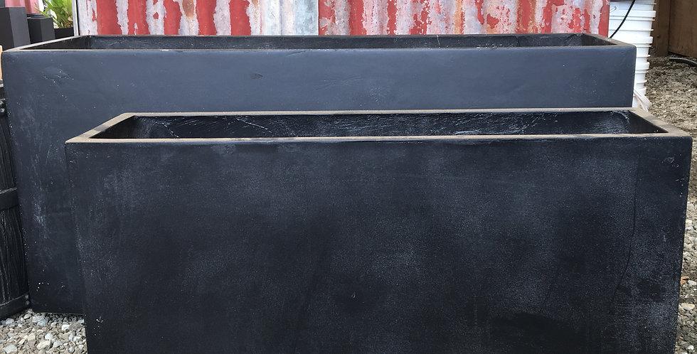 Sunnydene Studio Eyre Rectangle Fiberglass Planter Box - Black