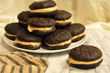 Chocolate  with Peanut Butter Icing Whoopie Pie