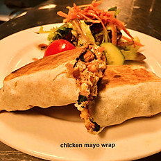 Chicken with mayo wrap