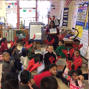 second grade students during read aloud