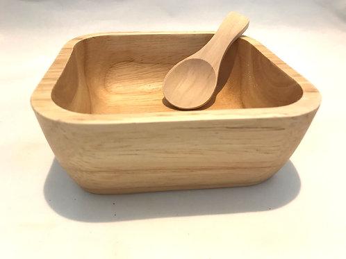 Wood Bath Salts Bowl