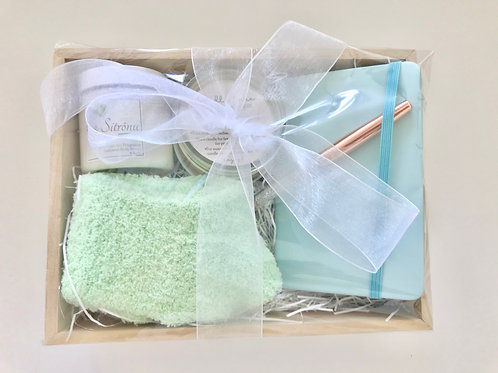 Gift Box with socks and journal