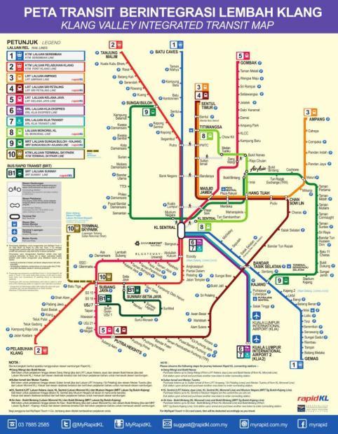 Peta Transportasi, Kuala Lumpur