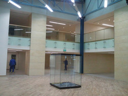 vitrina geam Biblioteca Nationala