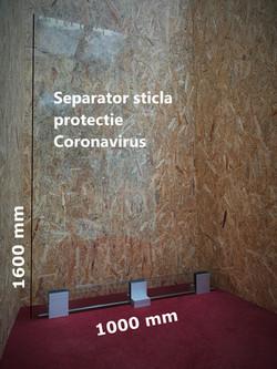 Separator sticla protectie Coronavirus
