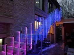 Trepte si balustrada LED