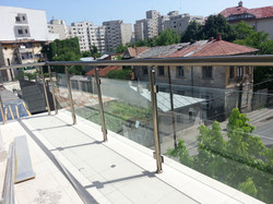 Balustrada balustrii aluminiu.